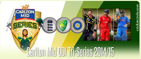 India vs Australia vs England Tri-Series 2015
